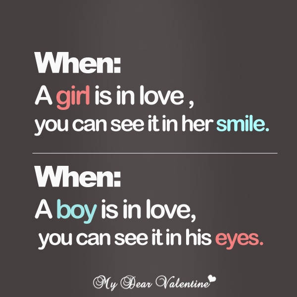 girlfriend quotes - When a girl is in love