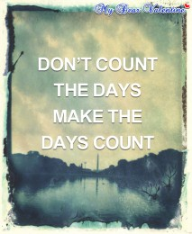 inspirational quotes - Don't count the days make