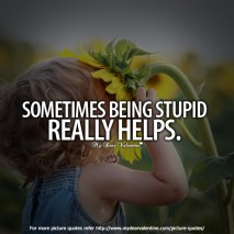 life quotes - Sometimes being stupid