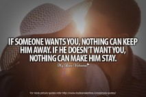 Love Quotes For Him - If someone wants you