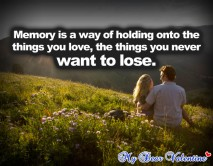 missing you quotes - Memory is a way of