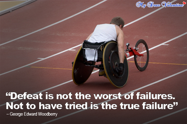 motivational quotes - Defeat is not the worst