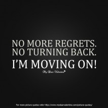 Motivational Quotes - No more regrets