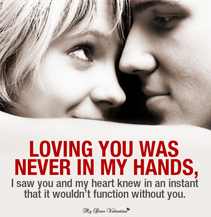Love Picture Quotes For Him - Loving you was never