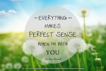 Romantic Love Quotes for Him - Everything makes perfect sense