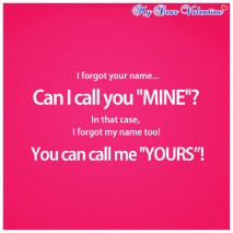 romantic quotes - I forgot your name