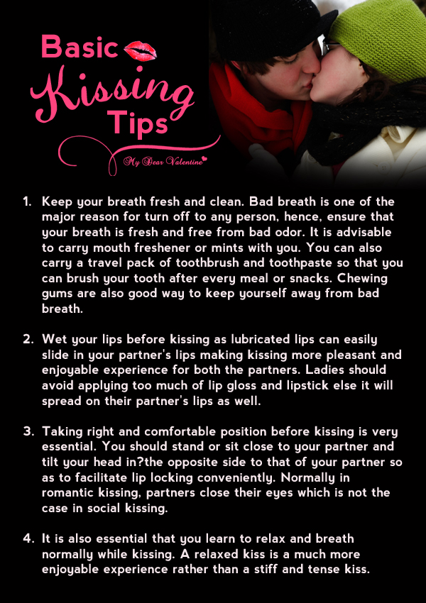 Romantic Quotes - Basic Kissing Tips
