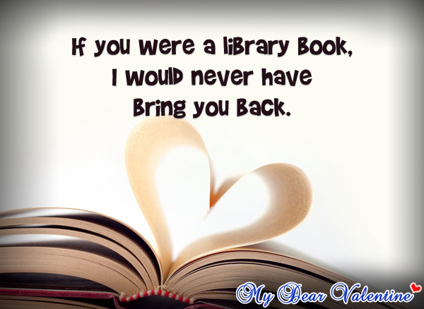 thinking of you quotes - If you were a library