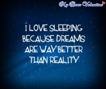 thinking of you quotes - I love sleeping