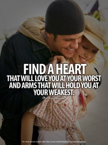 Adorable Quotes - Find a heart that will love you