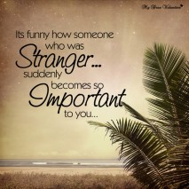 Amazing Love Quotes - It's funny how someone who was stranger