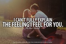 Awesome Love Quotes - I can't fully explain the feeling I feel for you