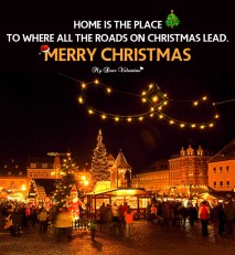 Christmas Love Quotes Picture & Wishes  - Home is the place