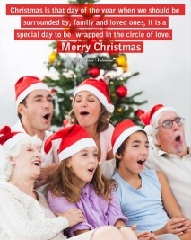 Christmas Picture Quote - Family and loved ones