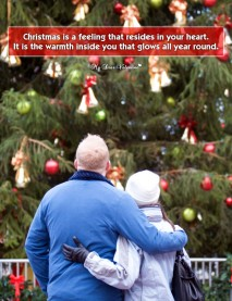 Christmas Picture Quote - Resides in your heart