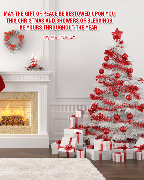 Christmas Picture Quote - Showers of blessings