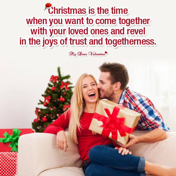 Christmas Picture Quote - Christmas is the time