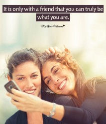 Cute Friendship Picture Quote - Its only with a friend