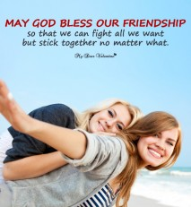Cute Friendship Picture Quotes - Fight but stick together