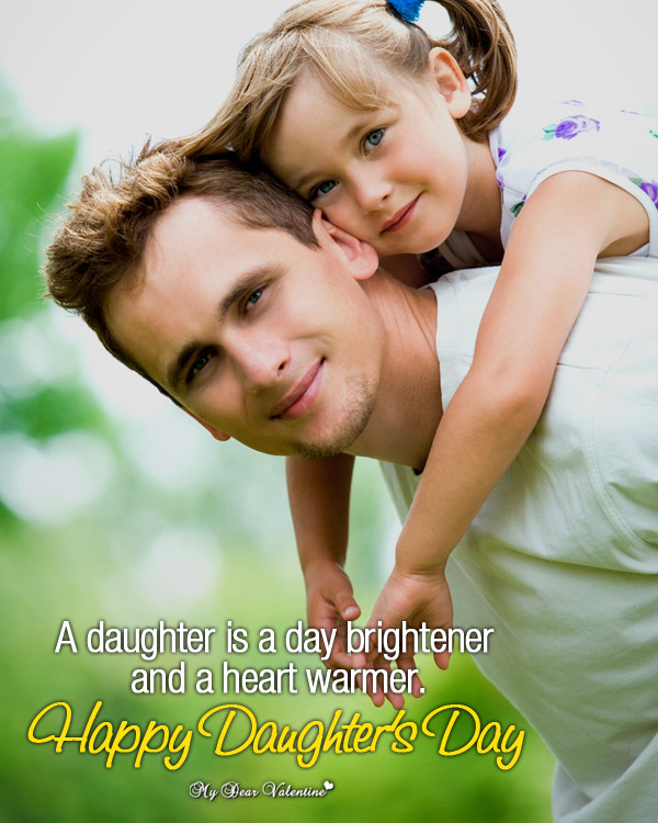 Cute Life Picture Quotes - A daughter is a day