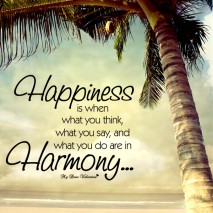 Cute Life Quotes - Happiness is when what you think