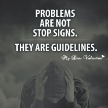 Cute Life Quotes - Problems are not stop signs