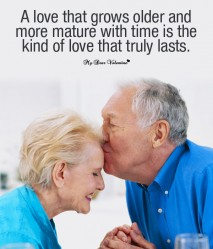 Cute Love Picture Quotes - A Love that grows older