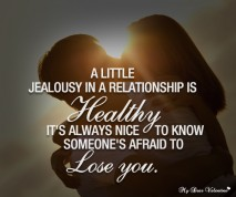 Cute Love Quotes - A little jealousy in a relationship is healthy