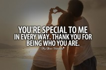 Cute Love Quotes - You are special to me in every way