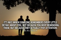 Deep Love Quotes - It's nice when someone remembers