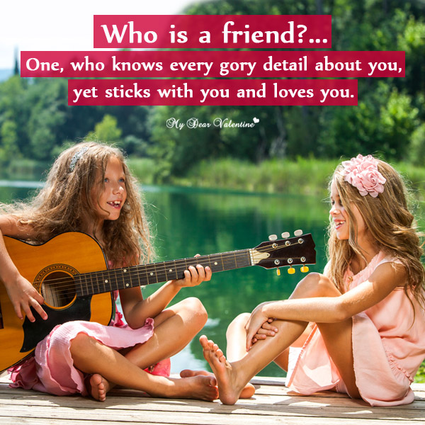 Friendship Picture Quote - Who is a friend?