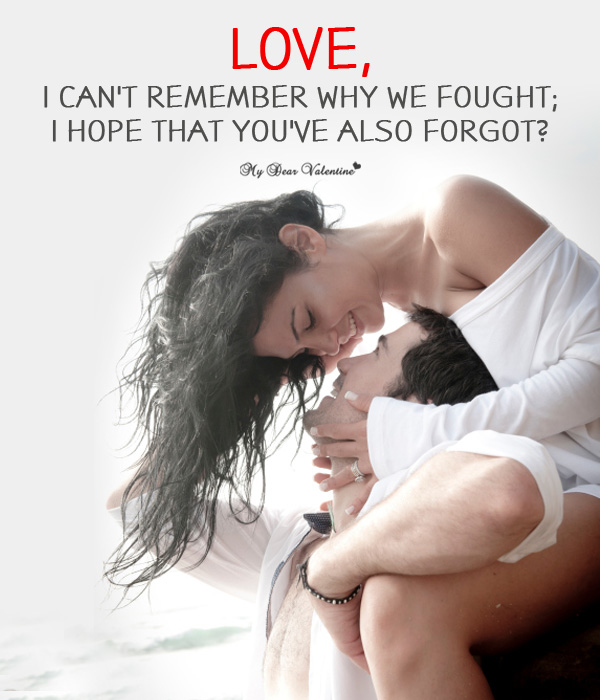 Funny Love Picture Quote - Love I can't remember