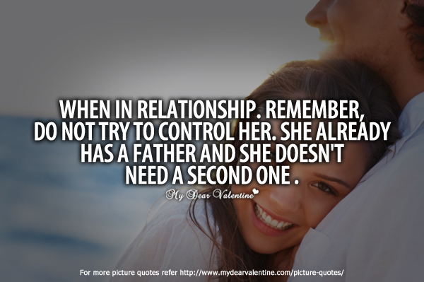 Funny Love Quotes - When in relationship