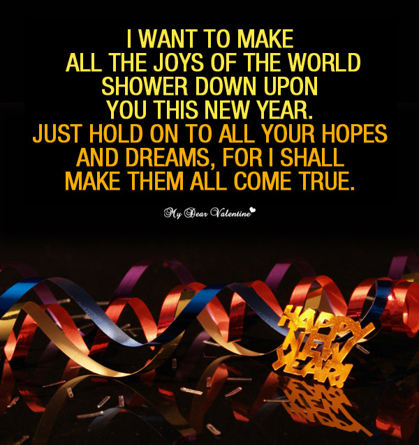 Happy New Year Picture Quote - Joys of the world