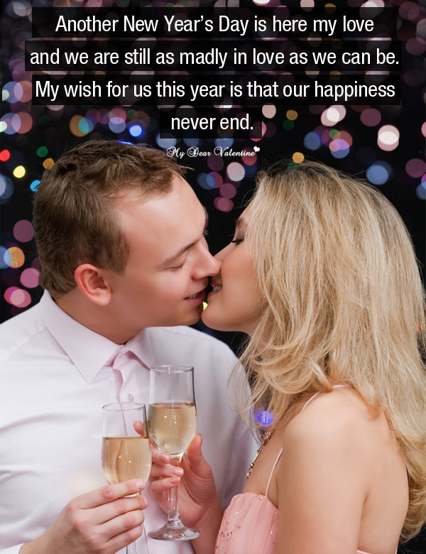 Happy New Year Picture Quote - Madly in love