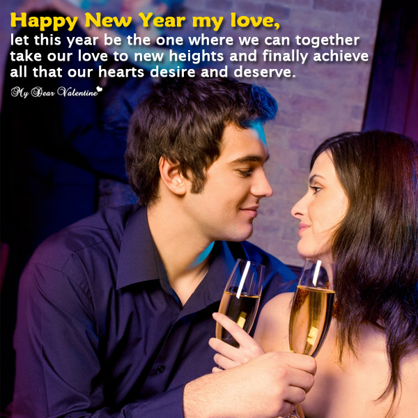 Happy New Year Picture Quote - Hearts desire