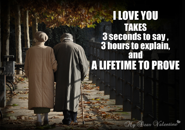 I Love You Quotes - I love you takes 3 seconds to say