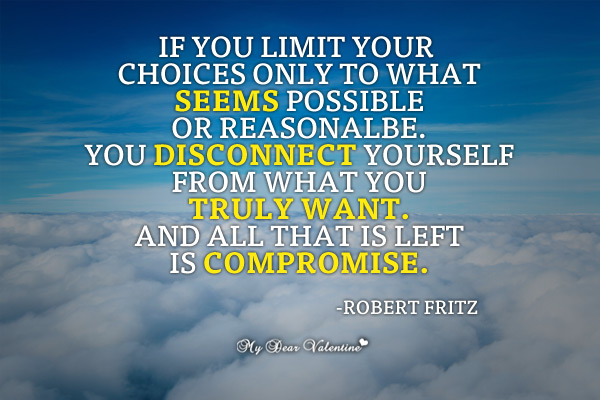Inspirational Picture Quotes - If you limit Your choices