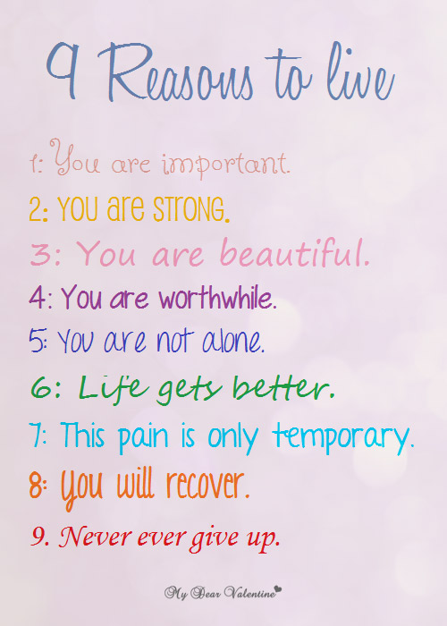 Inspirational Life Quotes - 9 Reasons to Live