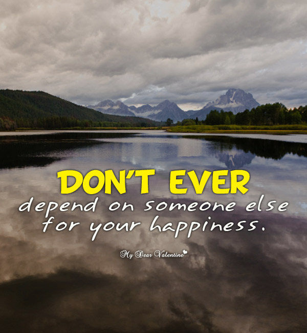 Inspirational Picture Quote - Do not ever depend