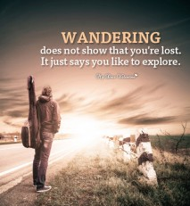 Inspirational Picture Quote - Wandering does not show