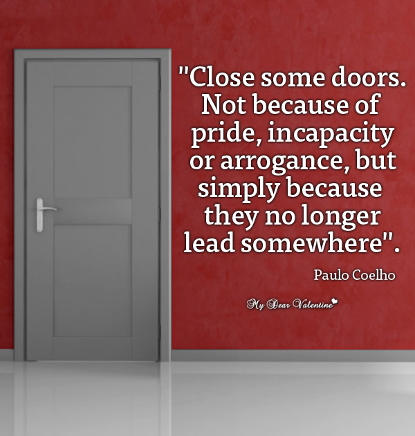 Inspirational Picture Quotes - Close some doors