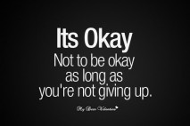 Inspirational picture quotes - Its okay