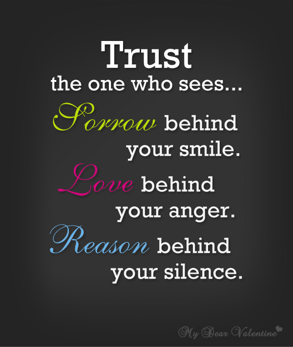 Inspirational Quotes - Trust the one who sees