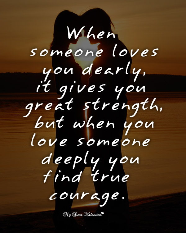 Inspirational Picture Quotes - When someone loves you