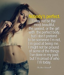 Inspirational Picture Quotes - Nobody's Perfect