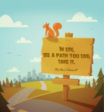 Life Picture Quote - Path you like