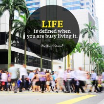 Life Picture Quote - Live life