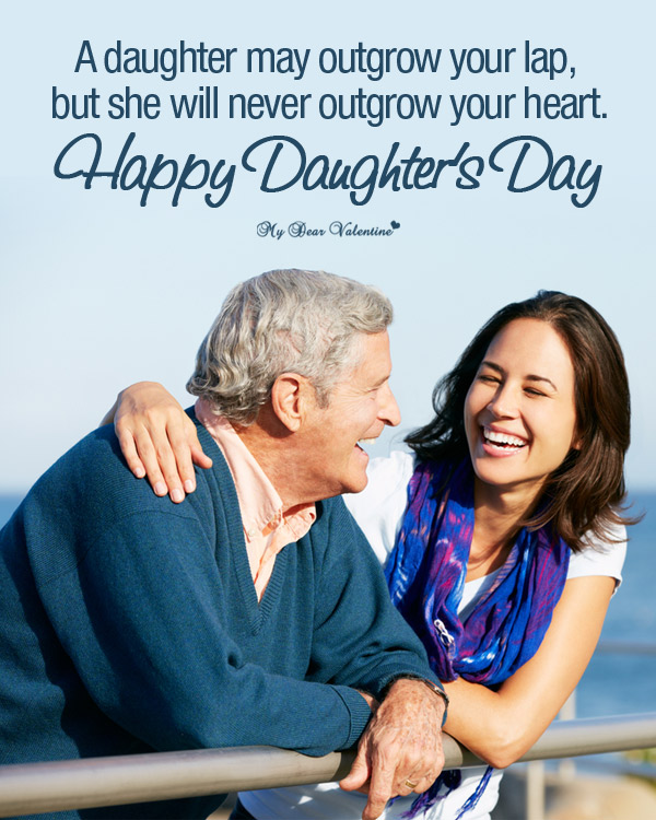 Life Picture Quotes - A daughter may