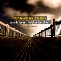 Life Picture Quote - Learn to live